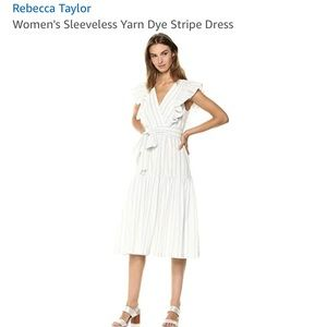 Rebecca Taylor Yarned Dyed Striped dress NWT